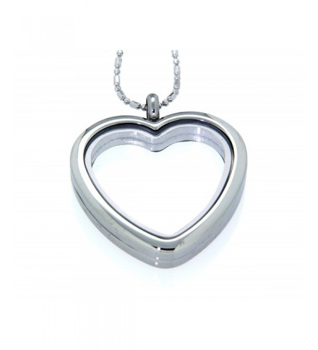 Clearly Charming Floating Necklace Silver tone