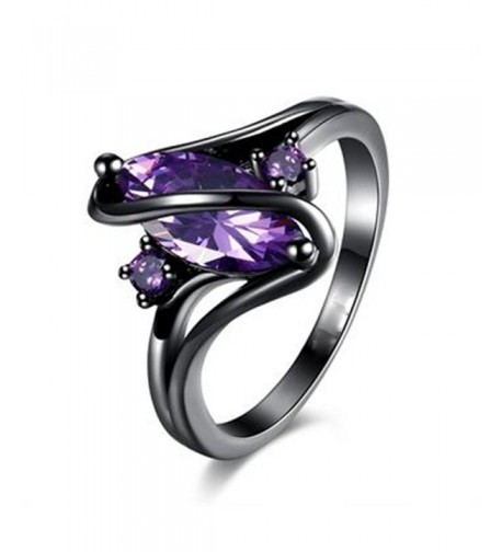 Womens Plated Purple Zircon Wedding