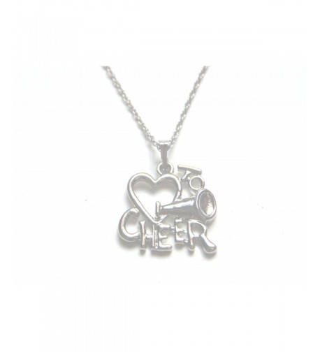 Silver Cheer Cheerleading Chain Necklace