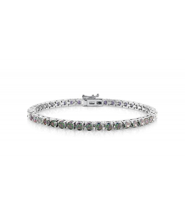 NYC Sterling Rainbow Zirconia Bracelet