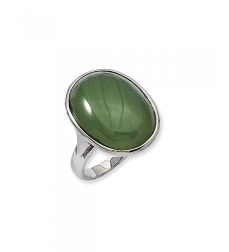 Stainless Steel Green Aventurine Oval