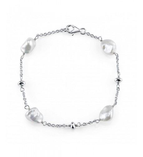 Keshi Freshwater Cultured Pearl Bracelet