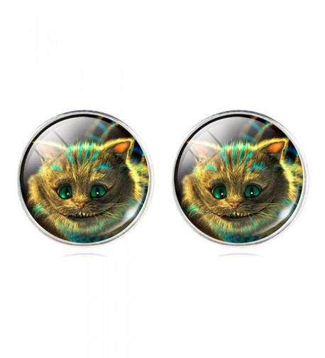 Cartoon Smiling Cheshire Earrings Christmas