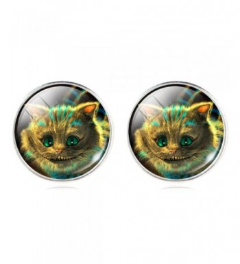 Cartoon Smiling Cheshire Earrings Christmas