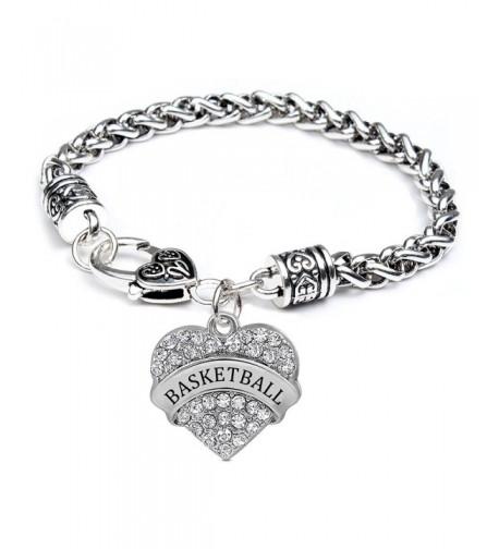 Basketball Gifts Heart Bracelet Women