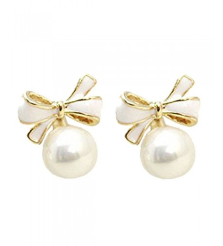 Bowknot Dropearrings Simulation Earrings Pierced