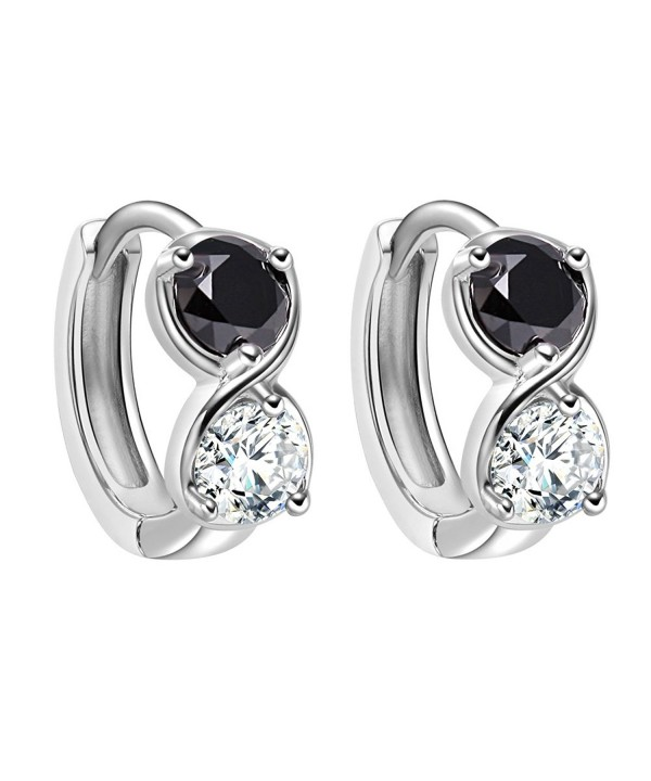 Infinity Silver Tone Sparkling Crystals Earrings