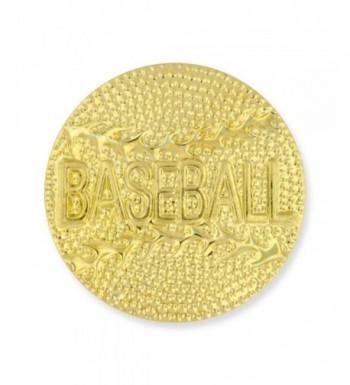 Gold Baseball Chenille Sports Lapel
