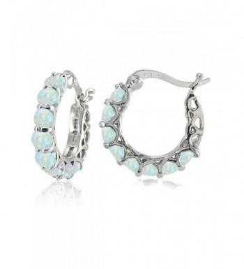 Sterling Silver Simulated Huggie Earrings