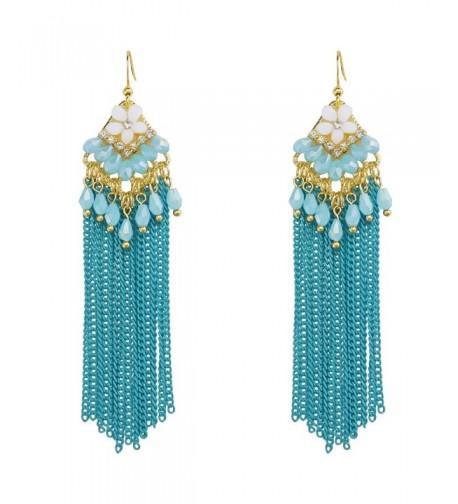 Handmade Chandelier Earrings Bohemia Crystal