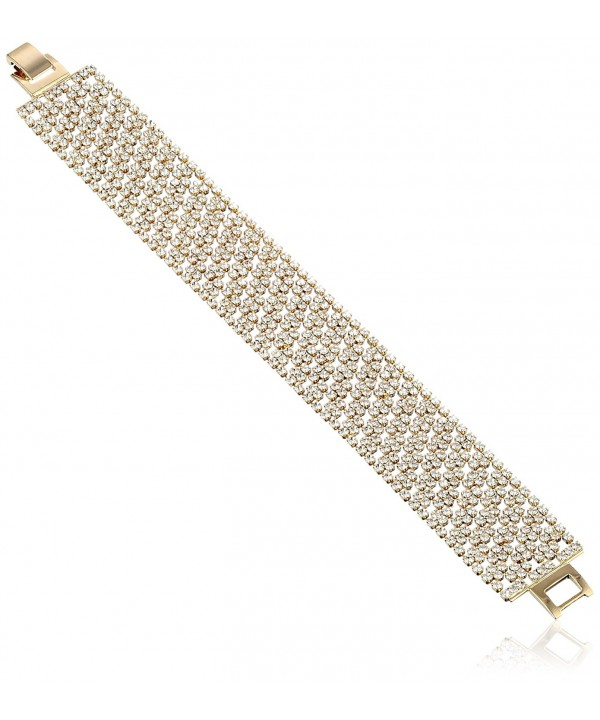 Oroclone Plated Pattern Crystal Bracelet