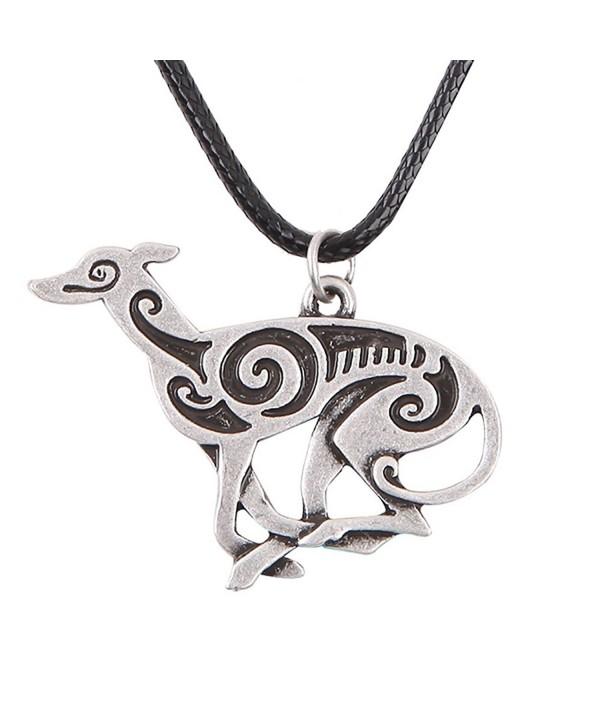 Running Greyhound Necklace Memorial F1255