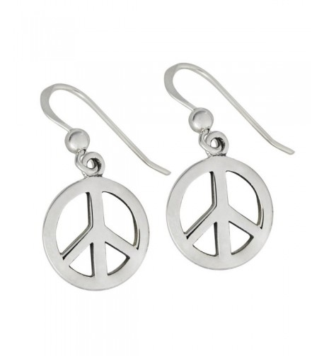 Sterling Silver Symbol Earrings Jewelry