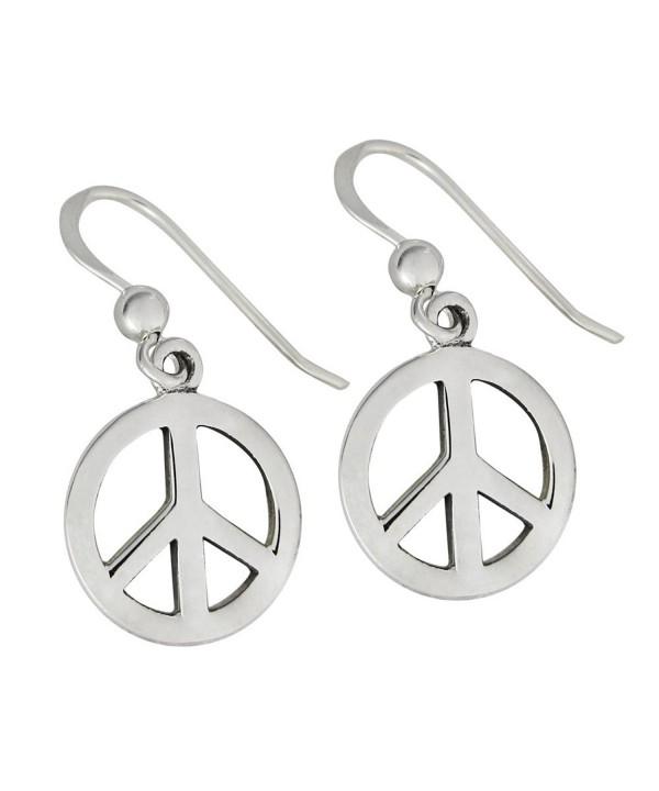 Sterling Silver Symbol Earrings Jewelry