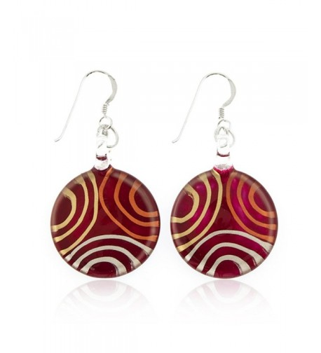 Sterling Silver Painted Ciricles Earrings