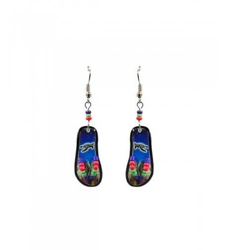 Tropical Flip Sandal Earrings Turtle