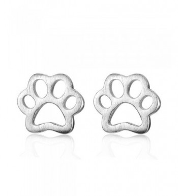 Ashley Jeweller Sterling Pawprint Earrings