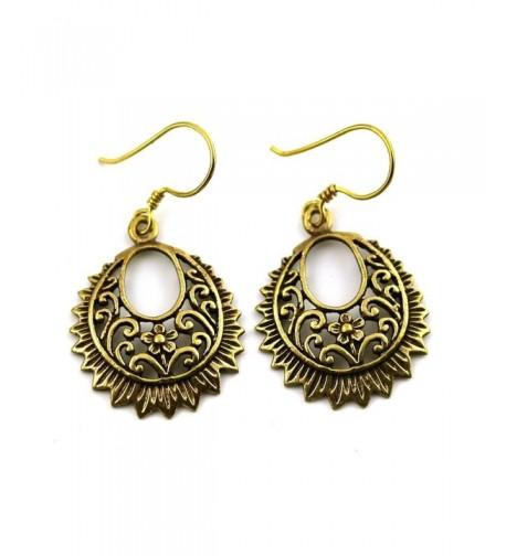 Filigree Earrings Vintage Thailand Jewelry