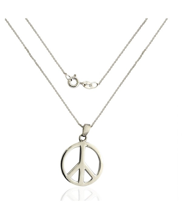 Sterling Silver Peace Necklace Pendant