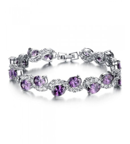 Jade Angel Platinum Zirconia Bracelet