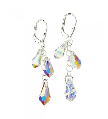 Sterling Earrings Borealis Multi Teardrop Swarovski