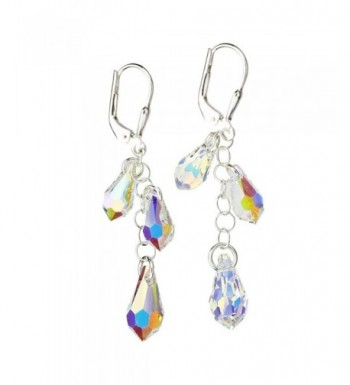 Sterling Earrings Borealis Multi Teardrop Swarovski