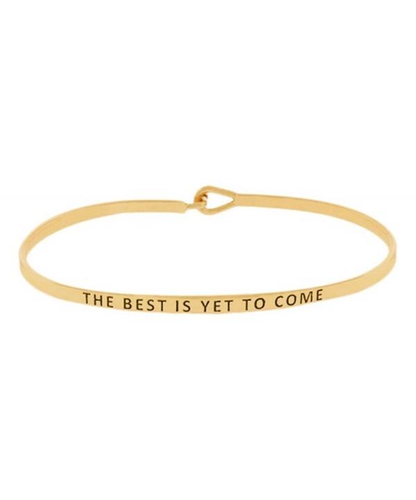 Inspirational Encouraging Mantra Bangle Bracelet