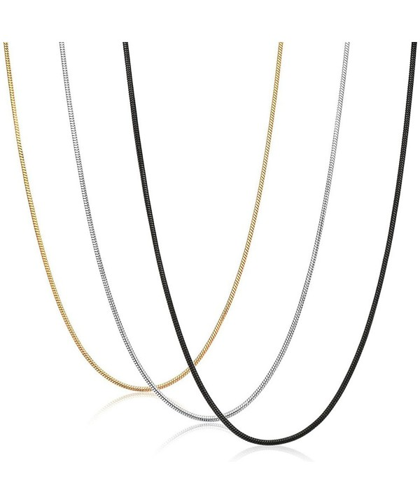 JF JEWELRY 1 2mm Stainless Steel Necklace