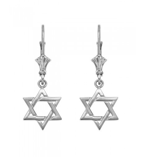 Jewish Dangle Earrings Sterling Silver
