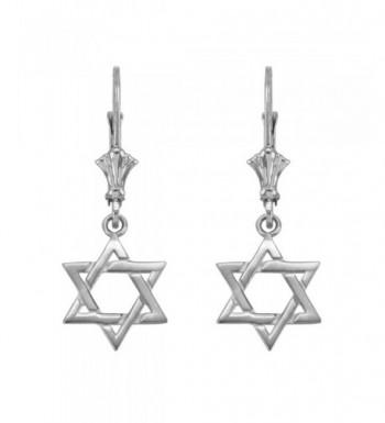 Jewish Dangle Earrings Sterling Silver