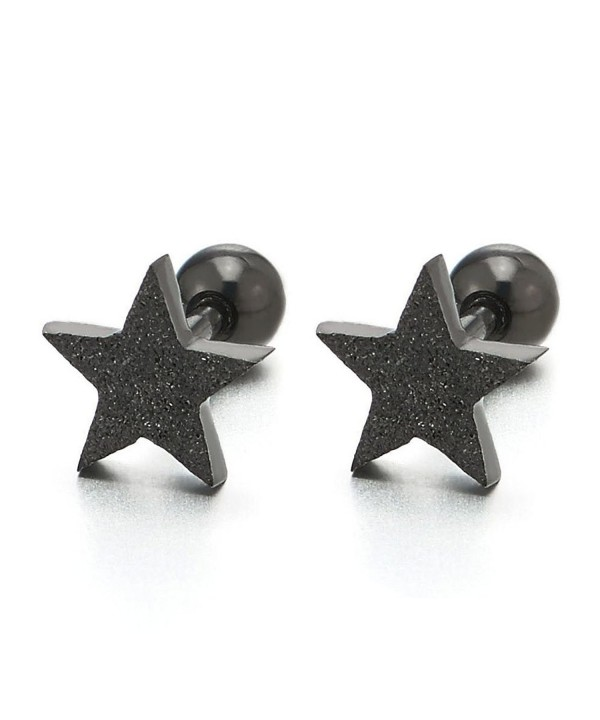 Black Stainless Steel Earrings Finished
