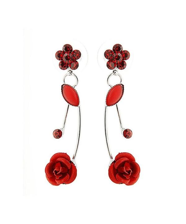 Glamorousky Elegant Earrings Austrian Crystals