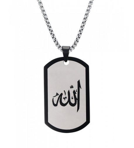 Stainless Pendant Necklace Islamic Religious
