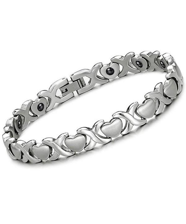 Stainless Magnetic Infinity Bracelet Hematite