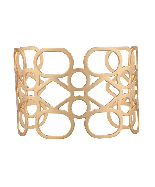 Lux Accessories Cuff Pattern Bracelet