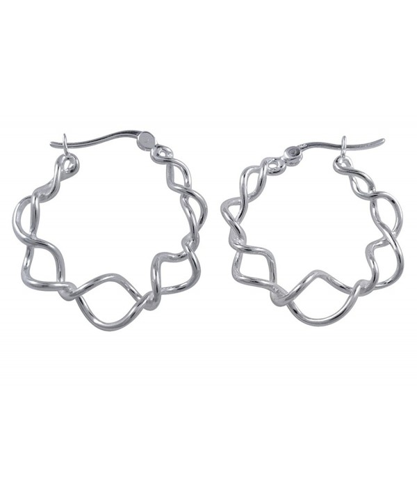 Sterling Silver Twisted Unique Earrings