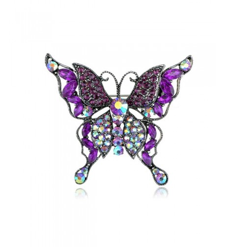 Alilang Rhinestone Multilayer Butterfly Borealis