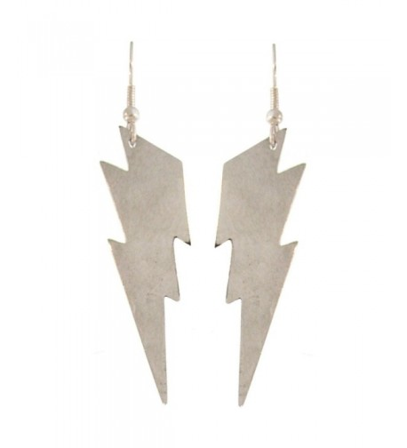 Nickel Free Lightning Earrings Silver