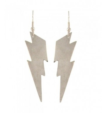 Nickel Free Lightning Earrings Silver