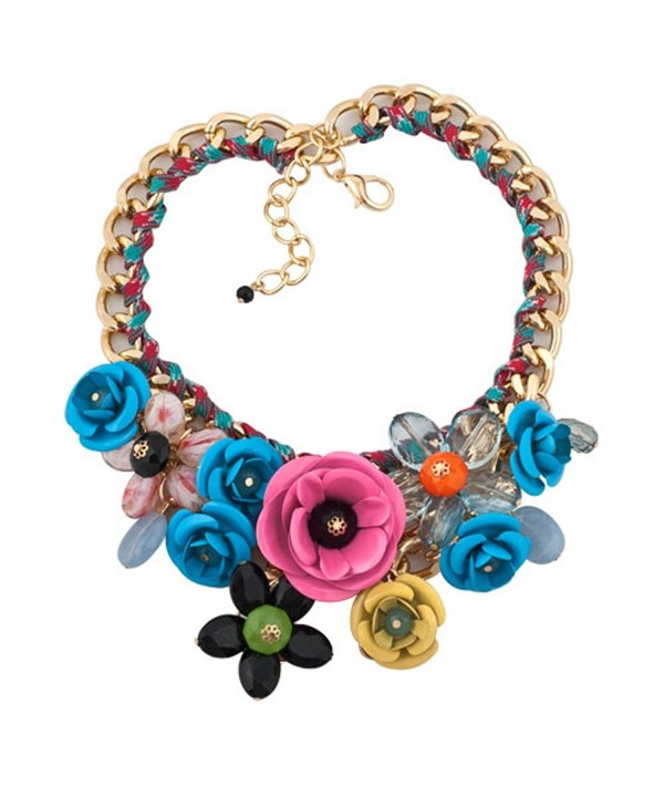 LovelyCharms Colorful Statement Necklace Pendant