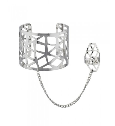 Lux Accessories Silvertone Caged Bracelet