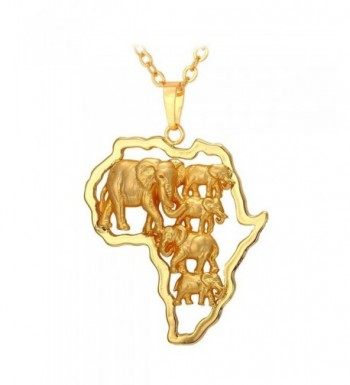 U7 Pendant Elephant Ethiopian Necklace
