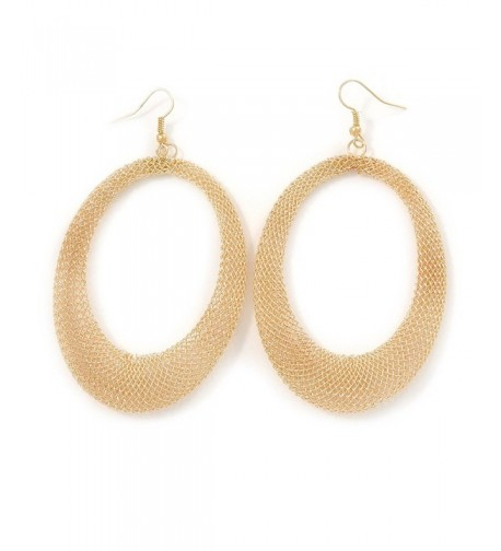 Large Gold Tone Mesh Earrings