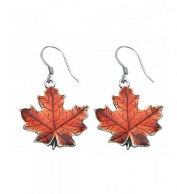 Danforth Maple autumn Pewter Earrings