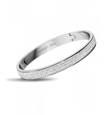 Stainless Rhinestone Crystal Wedding Bracelets