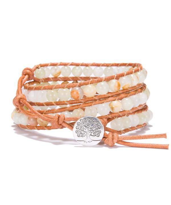 Bonnie Bracelet Imperial Jasper Leather