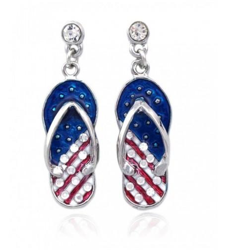 American Design Dangling Earrings Silver tone