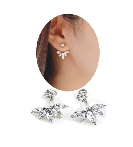 SUNSCSC Crystal Rhinestone Dangle Earrings