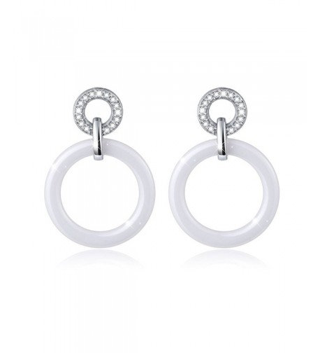 Fashion Ceramics Sterling Earrings Women