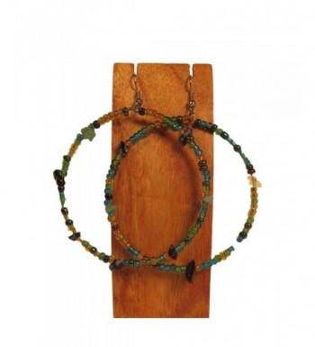 Handmade Green Peacock Inspired Earrings